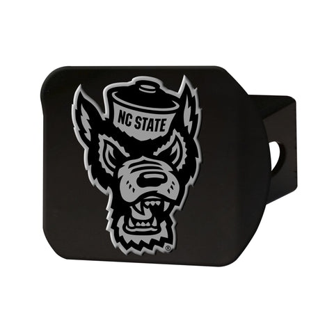 North Carolina State Wolfpack Chrome Hitch Cover - Black 3.4
