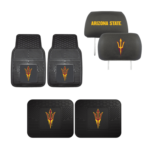 Arizona State Sun Devils Sun Devils  4pc Car Mats,Headrest Covers & Car Accessories