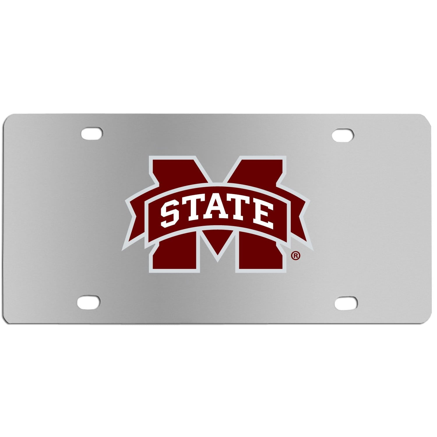 Mississippi St. Bulldogs Steel License Plate Wall Plaque