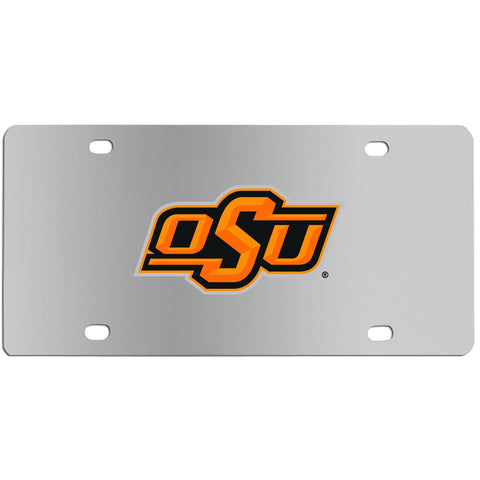 Oklahoma St. Cowboys Steel License Plate Wall Plaque