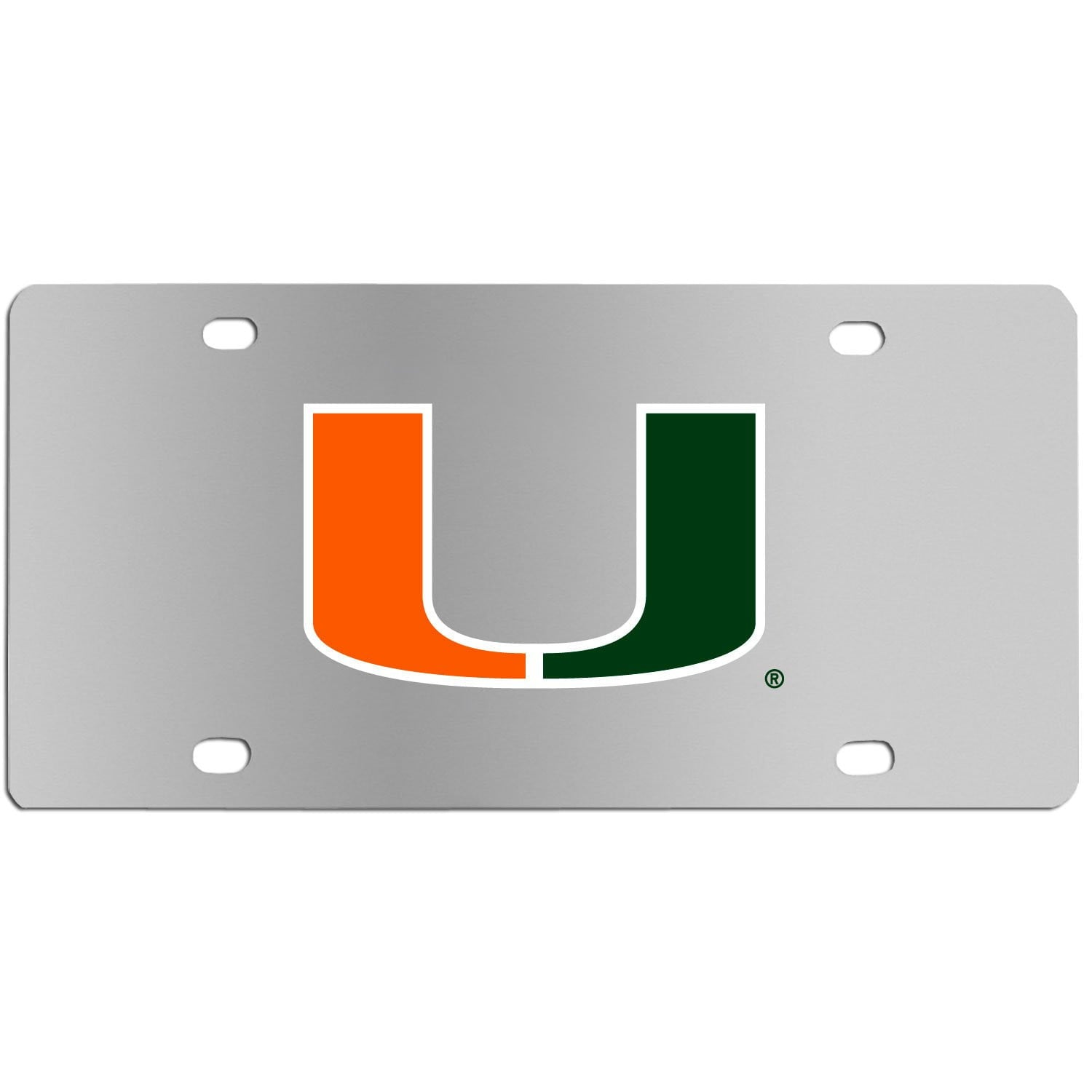 Miami Hurricanes Steel License Plate Wall Plaque