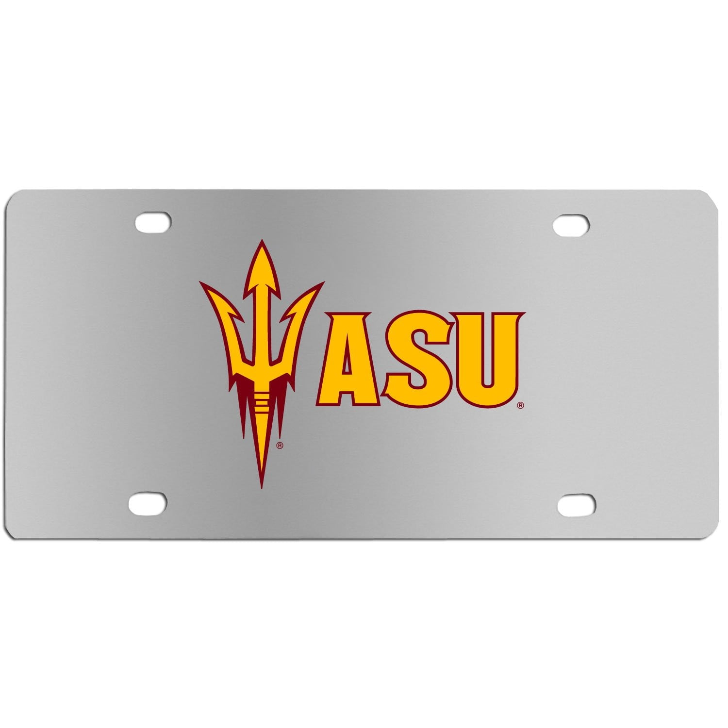Arizona St. Sun Devils Steel License Plate Wall Plaque