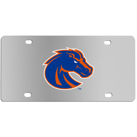 Boise St. Broncos Steel License Plate Wall Plaque