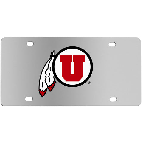 Utah Utes Steel License Plate Wall Plaque