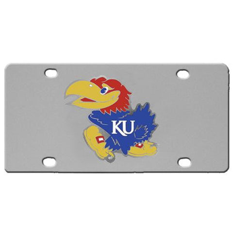 Kansas Jayhawks Steel License Plate