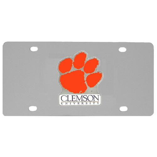 Clemson Tigers Steel License Plate