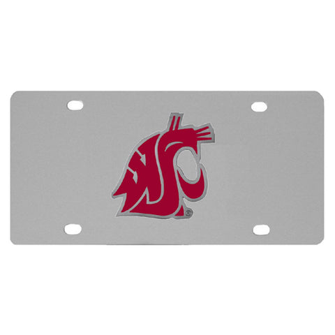Washington St. Cougars Steel License Plate