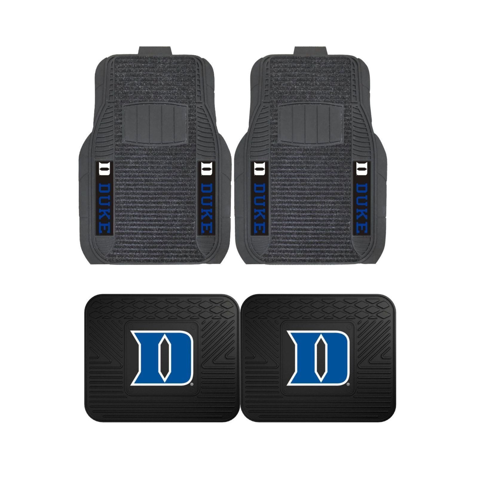 Duke Blue Devils Front (Vinyl/Carpet) & Rear (Vinyl) Car Floor Mats