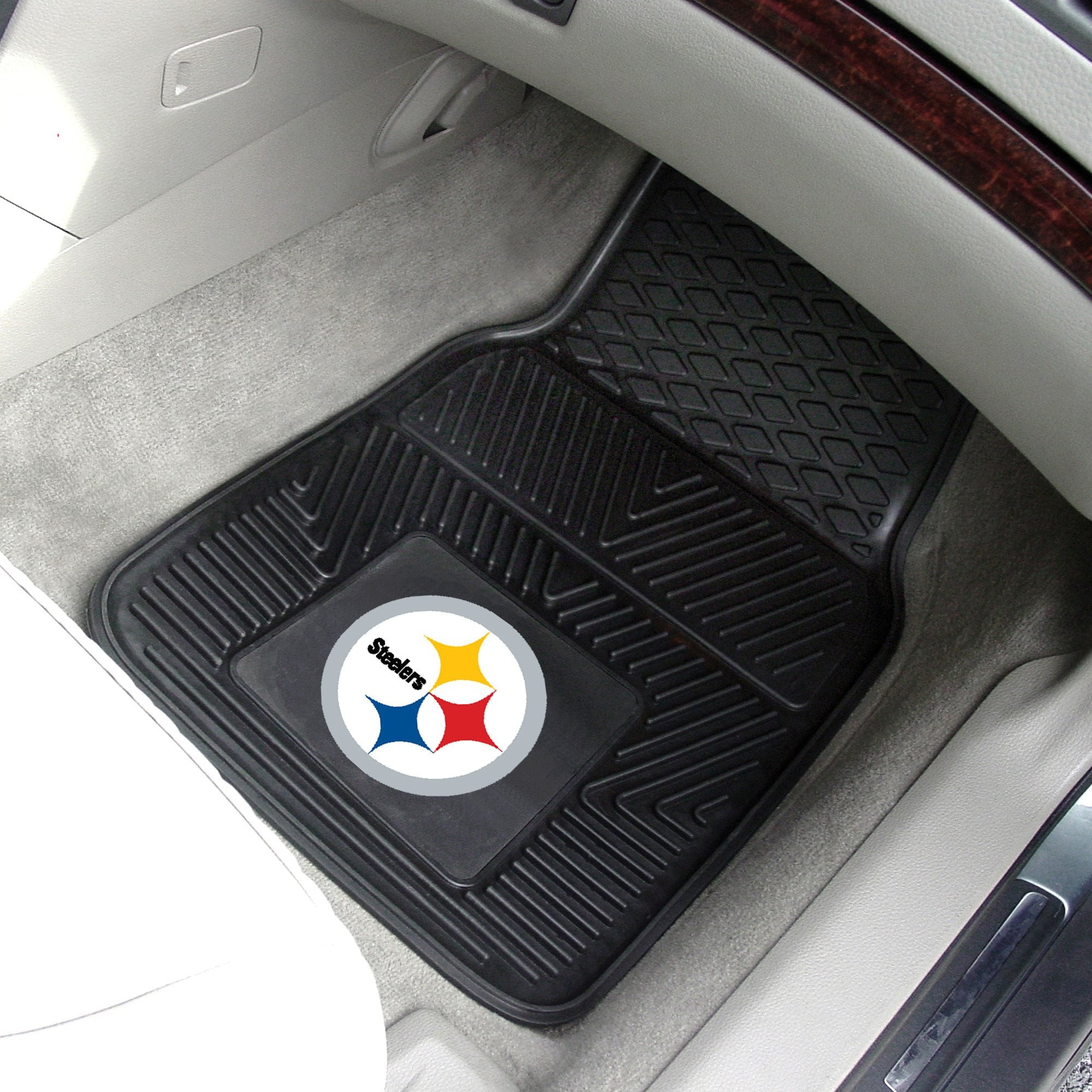 NFL - Pittsburgh Steelers 2-pc Front Vinyl Car Mats