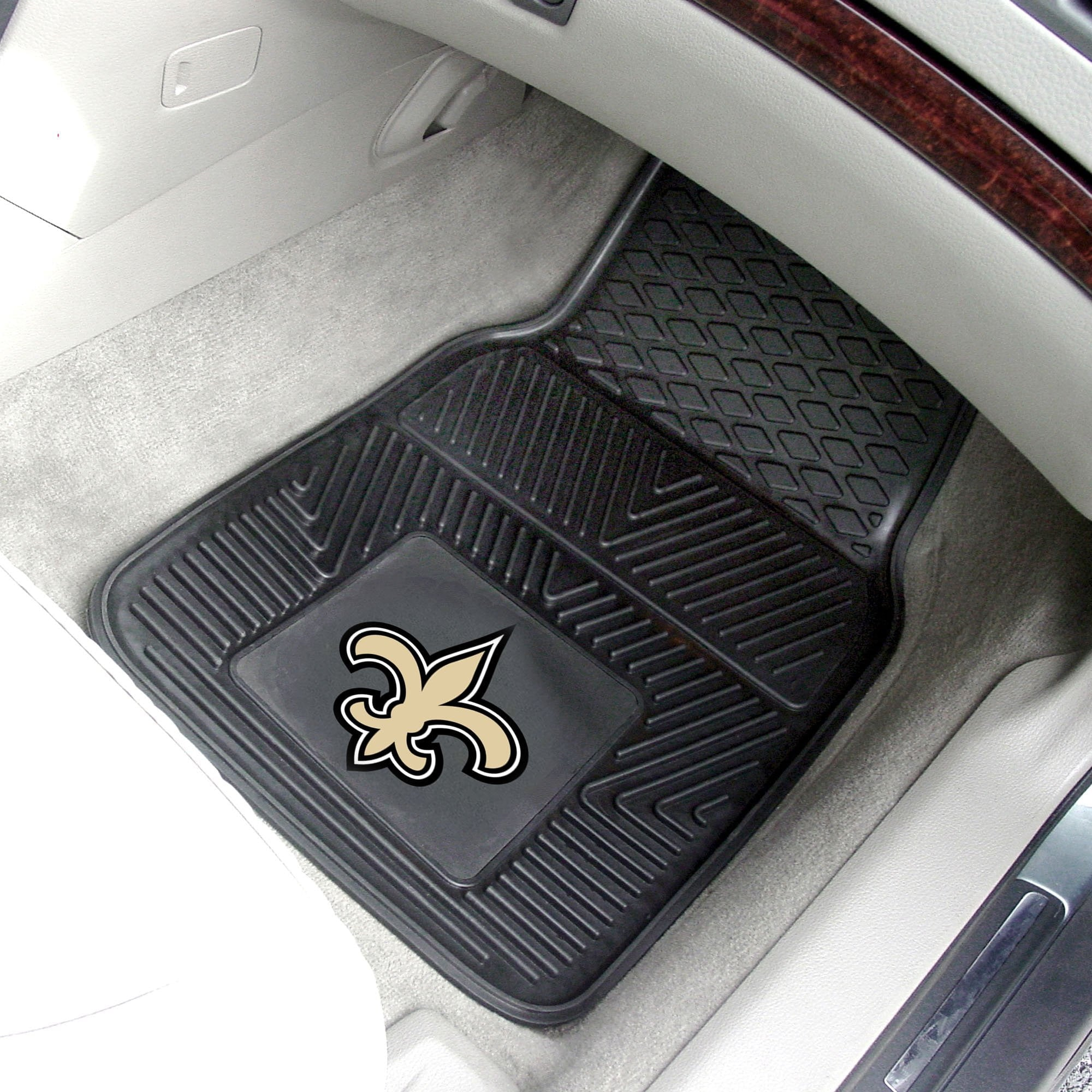 NFL - New Orleans Saints 2-pc Front Vinyl Car Mats