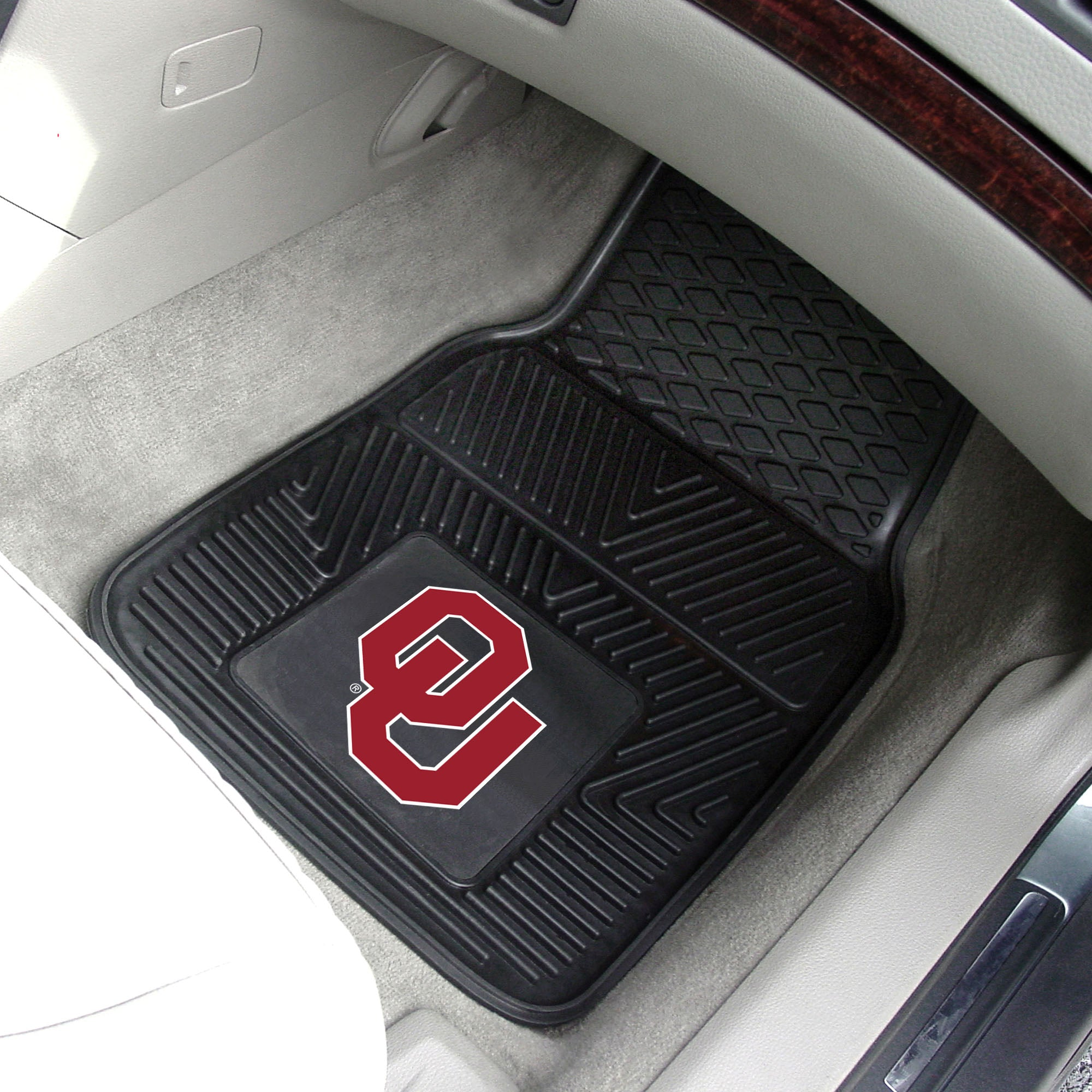 University of Oklahoma 2-pc Front Vinyl Car Mats