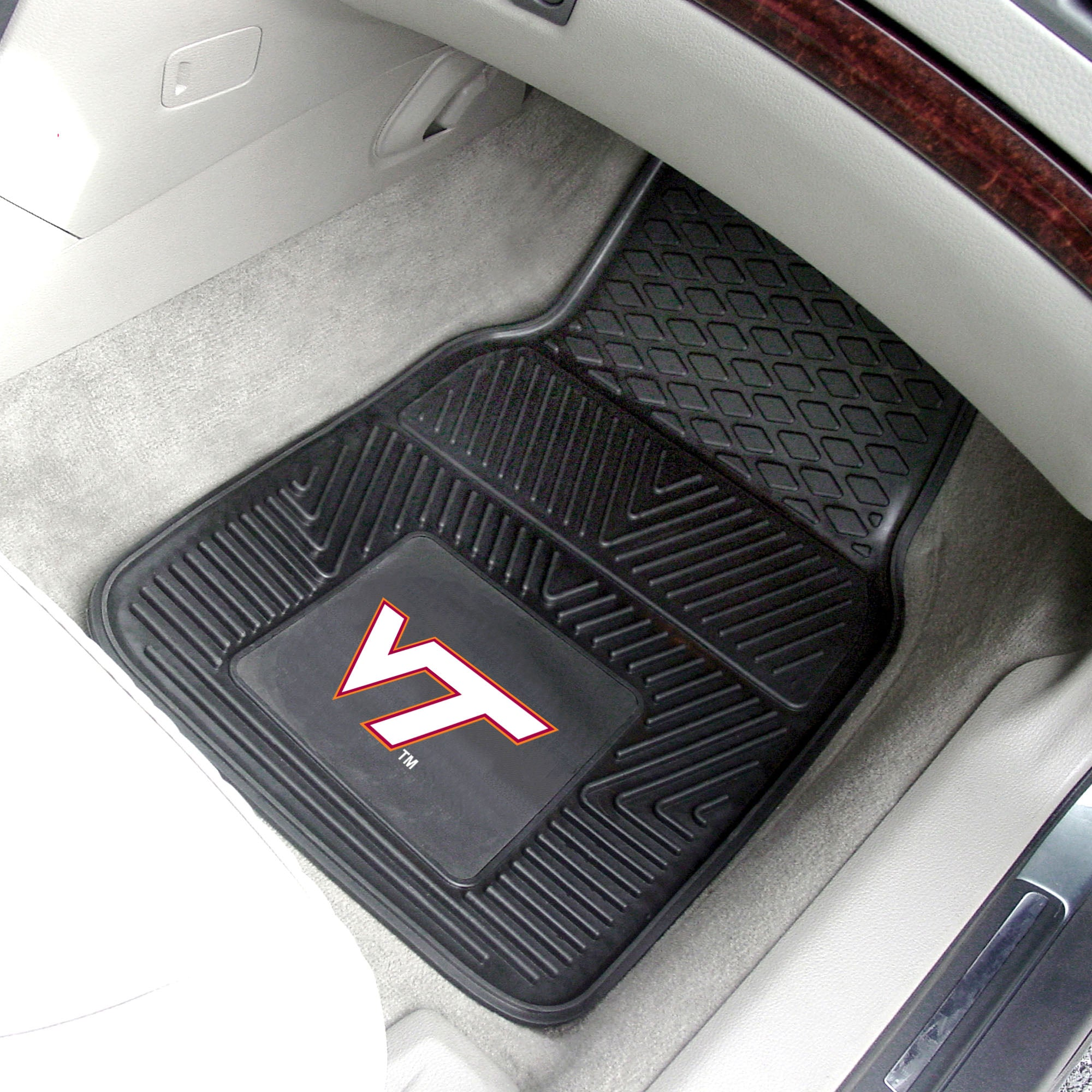 Virginia Tech 2-pc Front Vinyl Car Mats