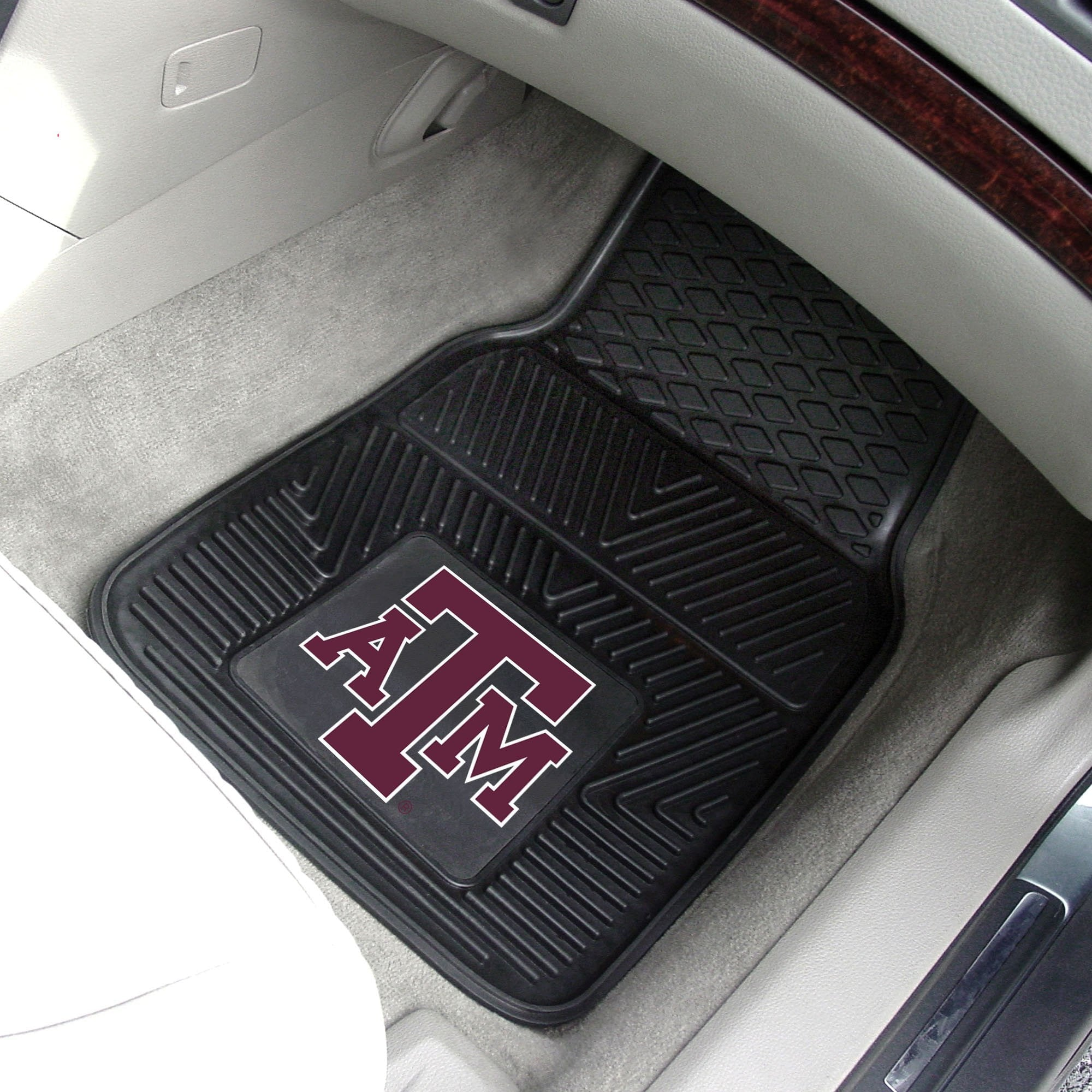Texas A&M Aggies 2-pc Front Vinyl Car Mats
