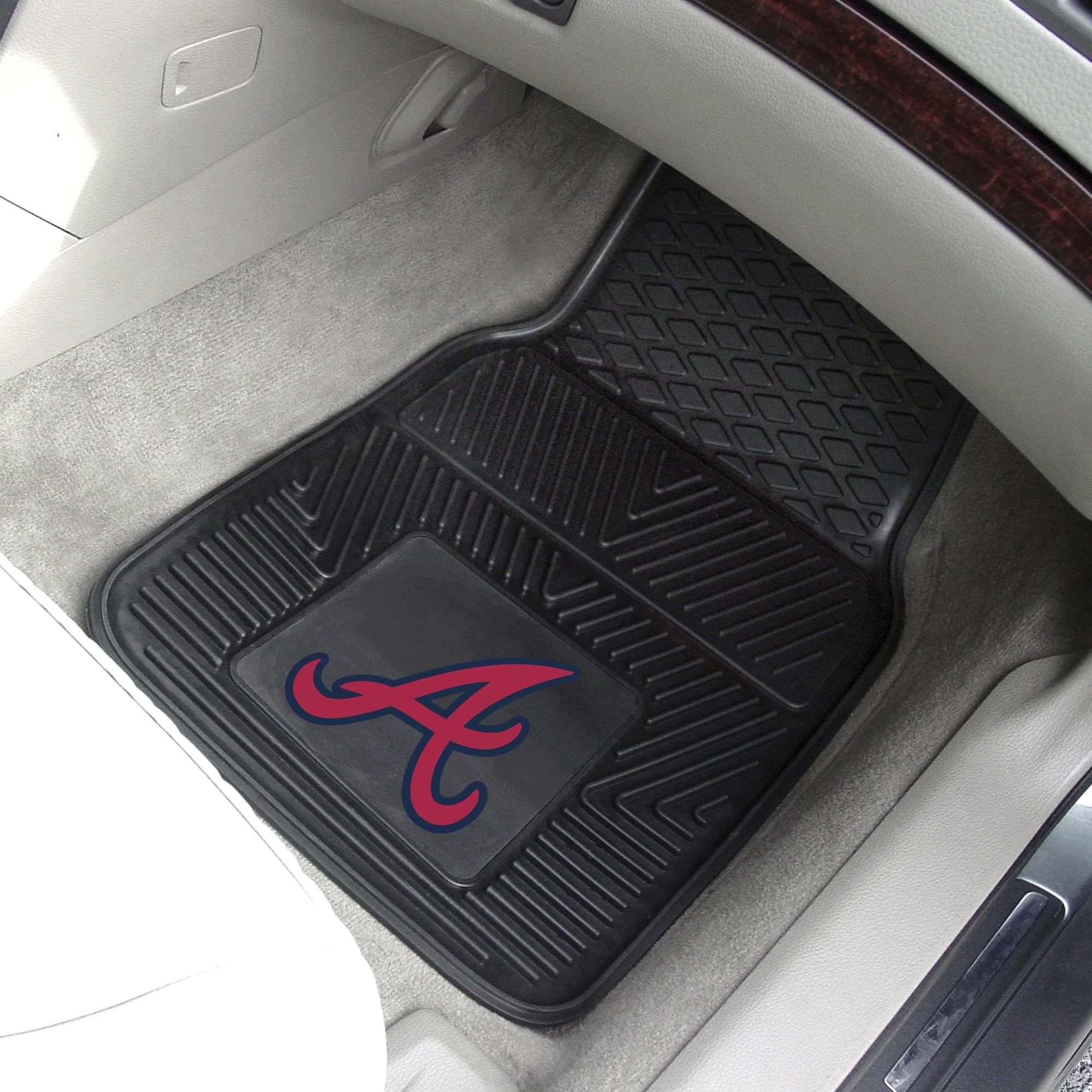 MLB - Atlanta Braves 2-pc Front Front Vinyl Car Mats