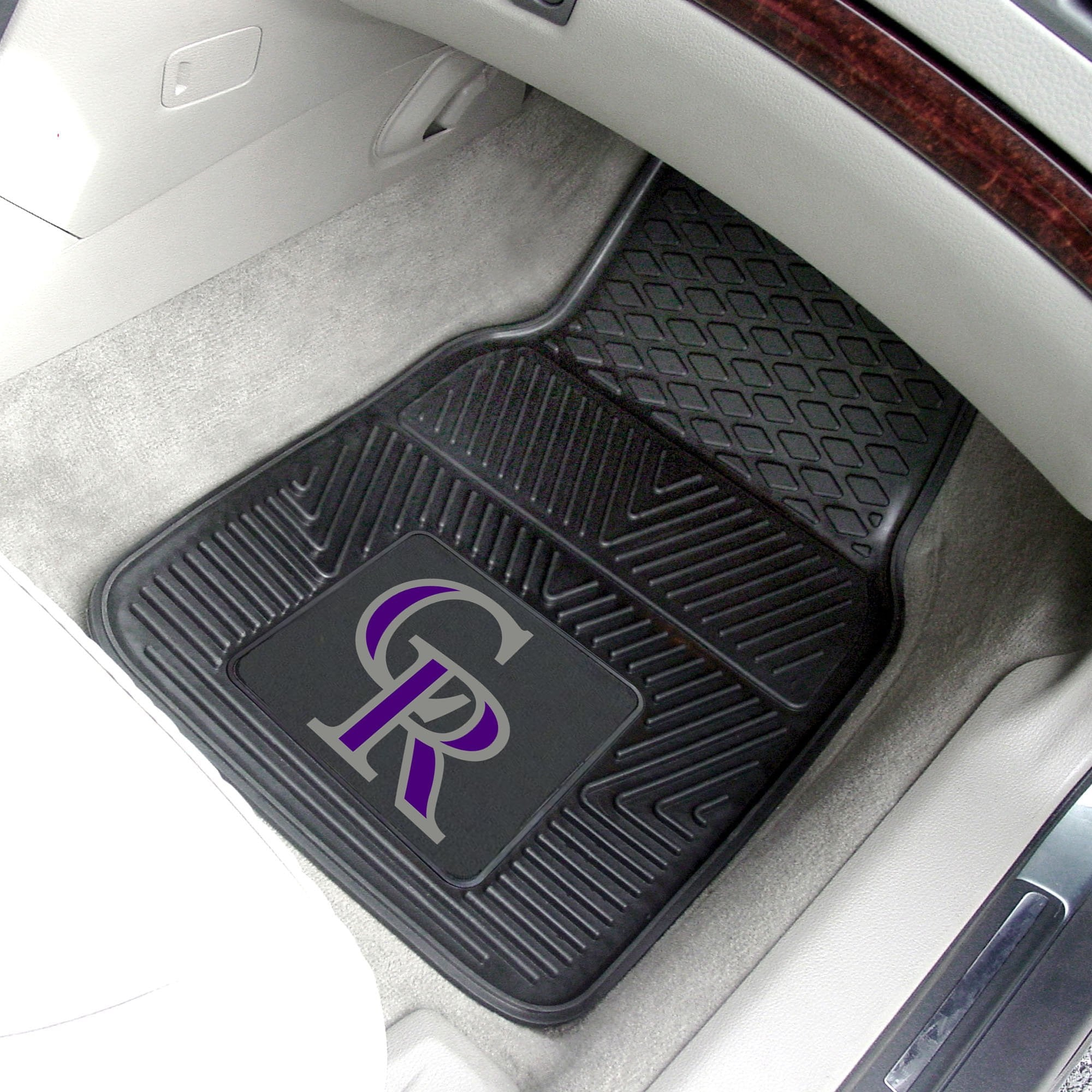 MLB - Colorado Rockies 2-pc Front Front Vinyl Car Mats