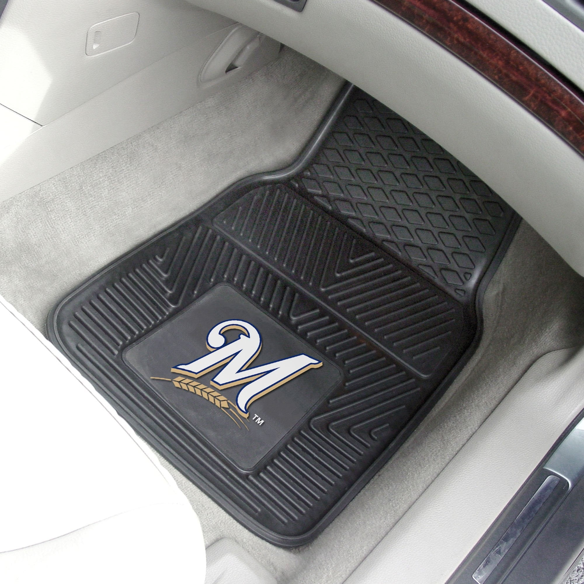 MLB - Milwaukee Brewers 2-pc Front Front Vinyl Car Mats