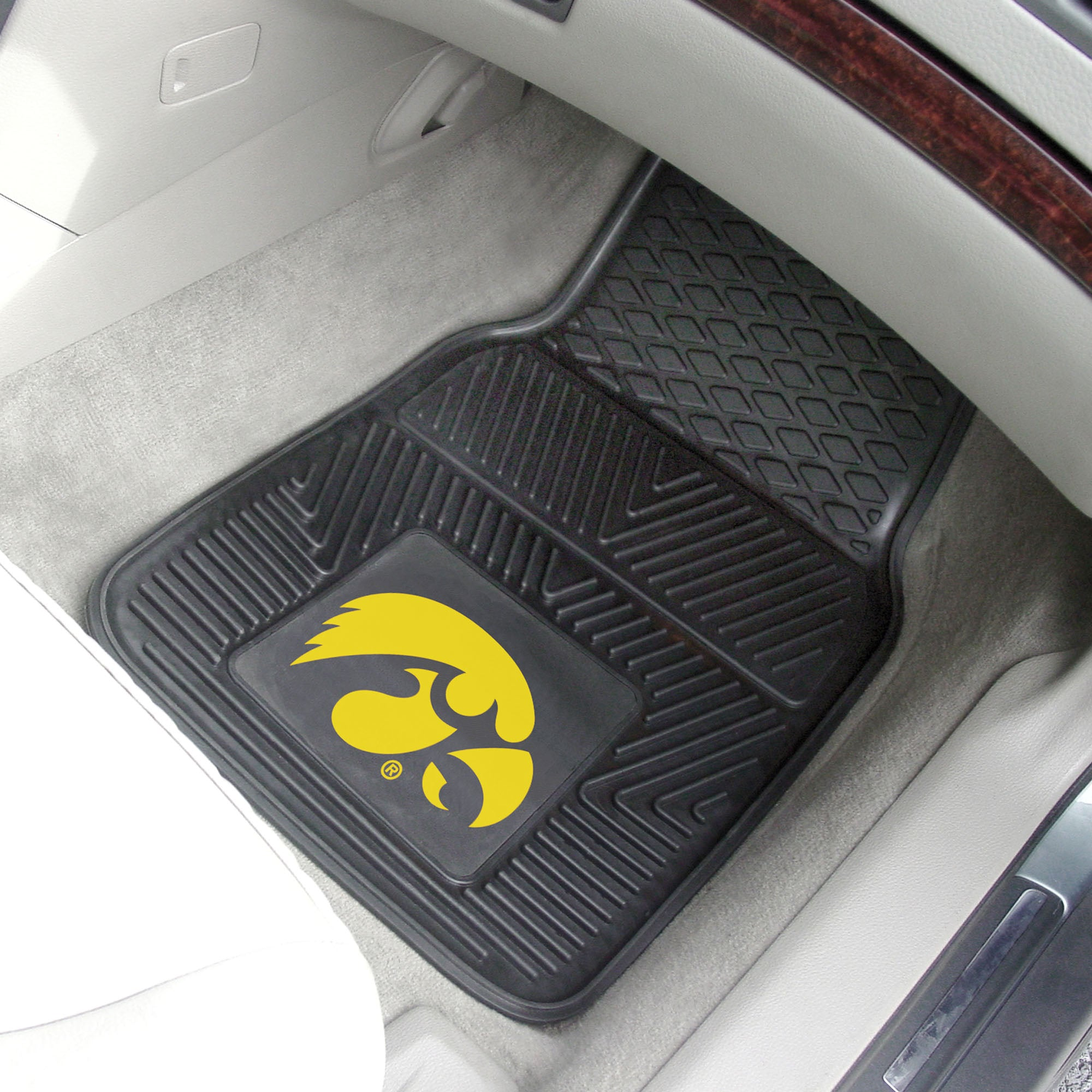 University of Iowa 2-pc Front Vinyl Car Mats