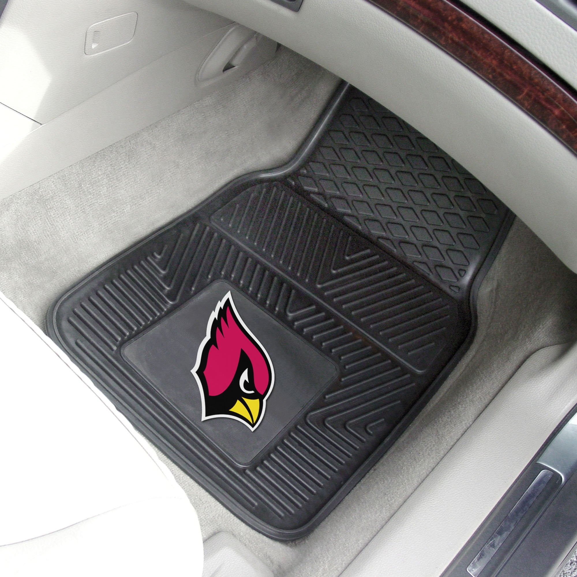 NFL - Arizona Cardinals 2-pc Front Vinyl Car Mats