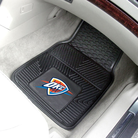 NBA - Oklahoma City Thunder 2-pc Front Front Vinyl Car Mats