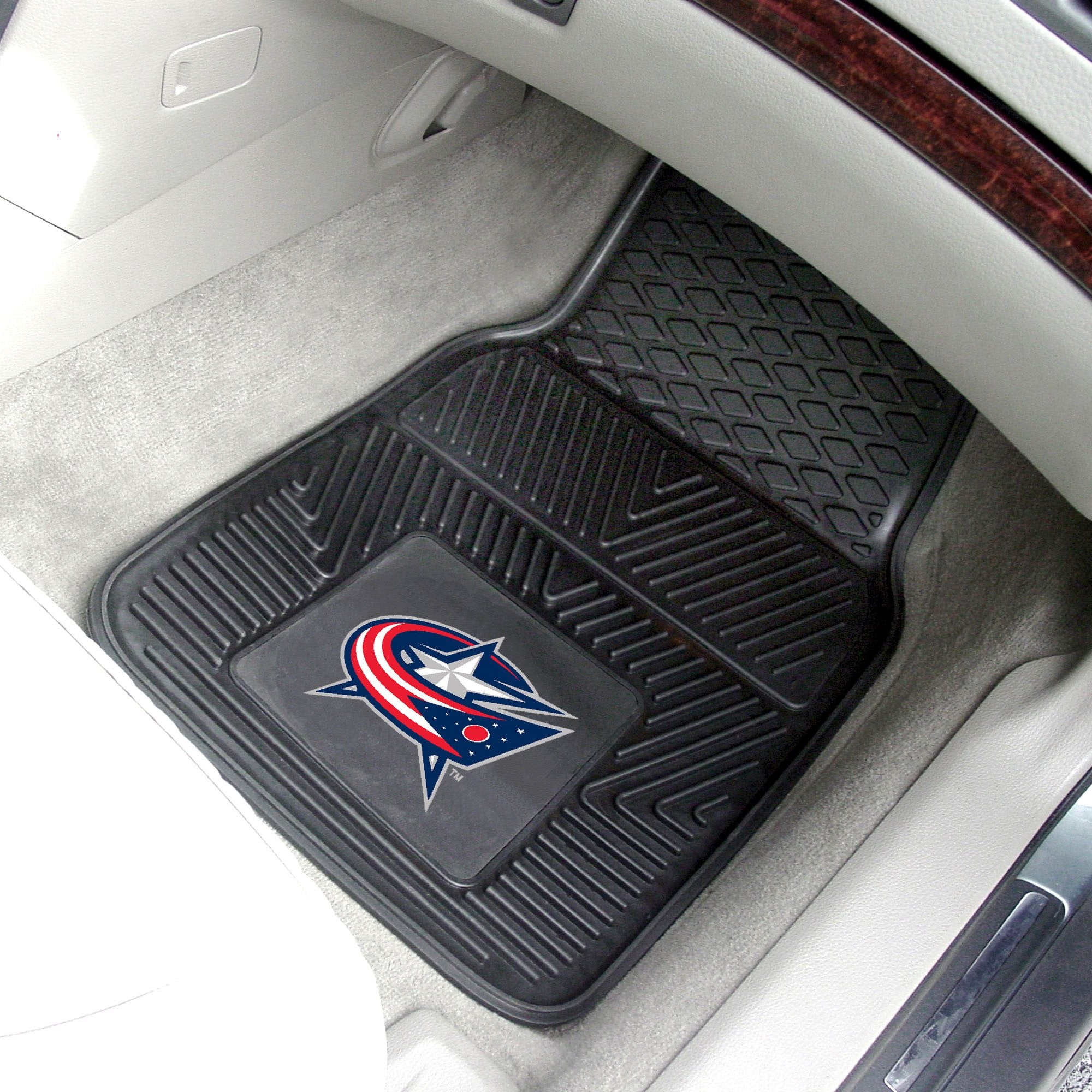 NHL - Columbus Blue Jackets 2-pc Front Front Vinyl Car Mats