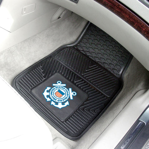 U.S. Coast Guard 2-pc Front Front Vinyl Car Mats