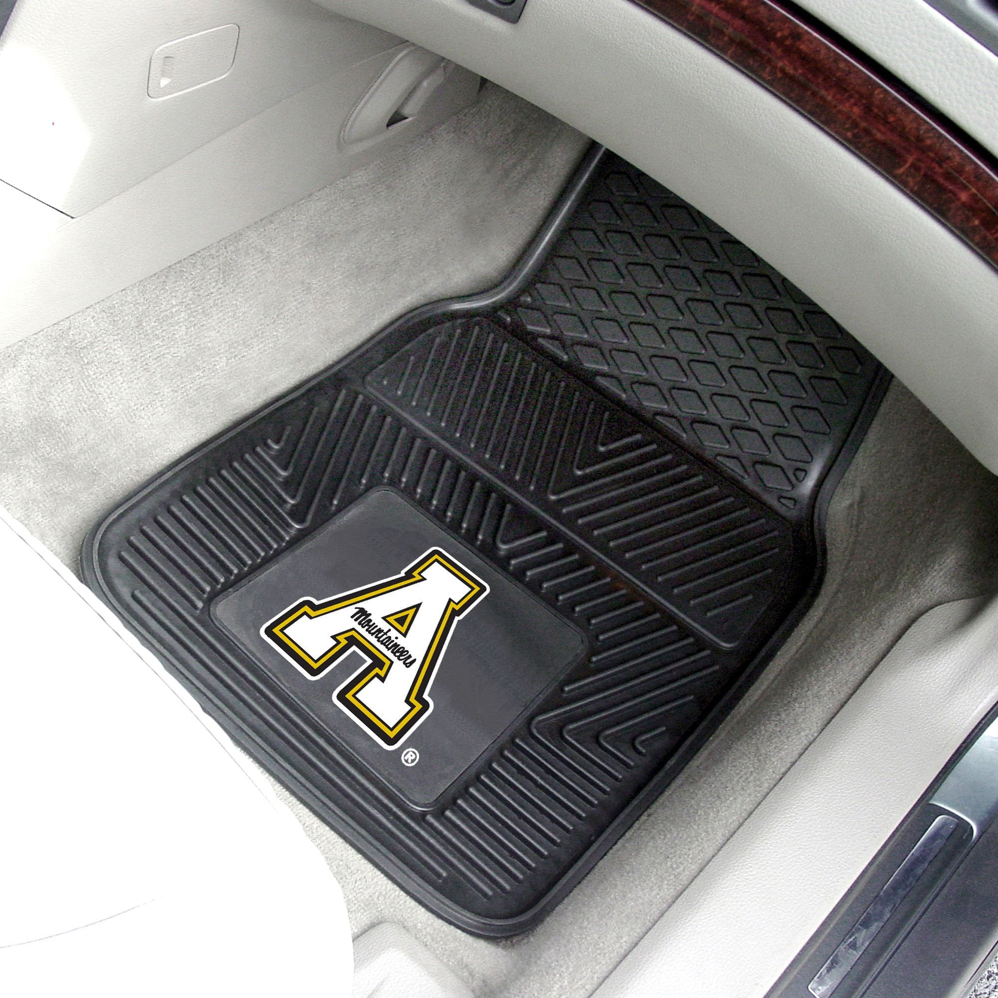 Appalachian State Mountaineers 2-pc Front Vinyl Car Mats