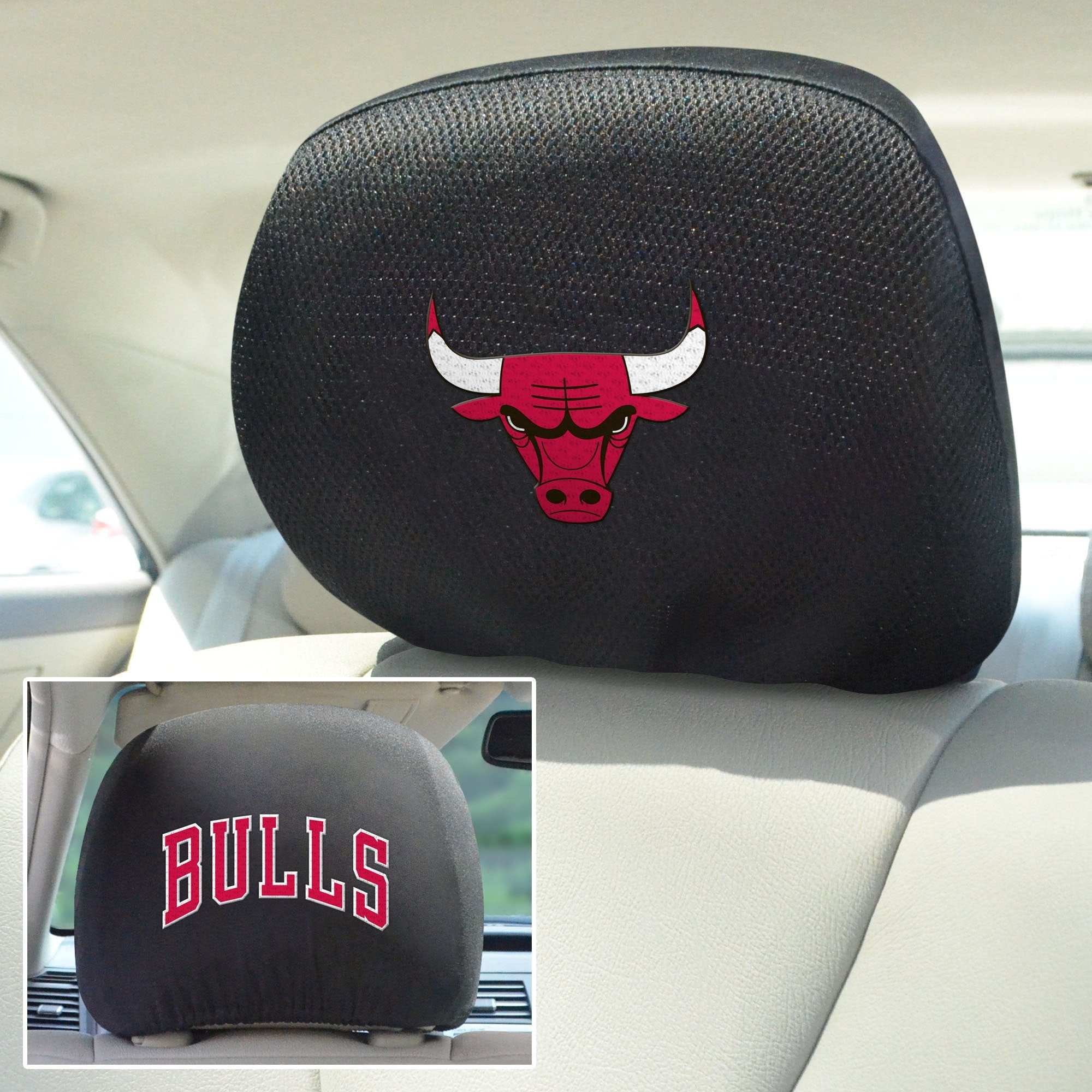 NBA - Chicago Bulls Set of Set of 2 Headrest Covers