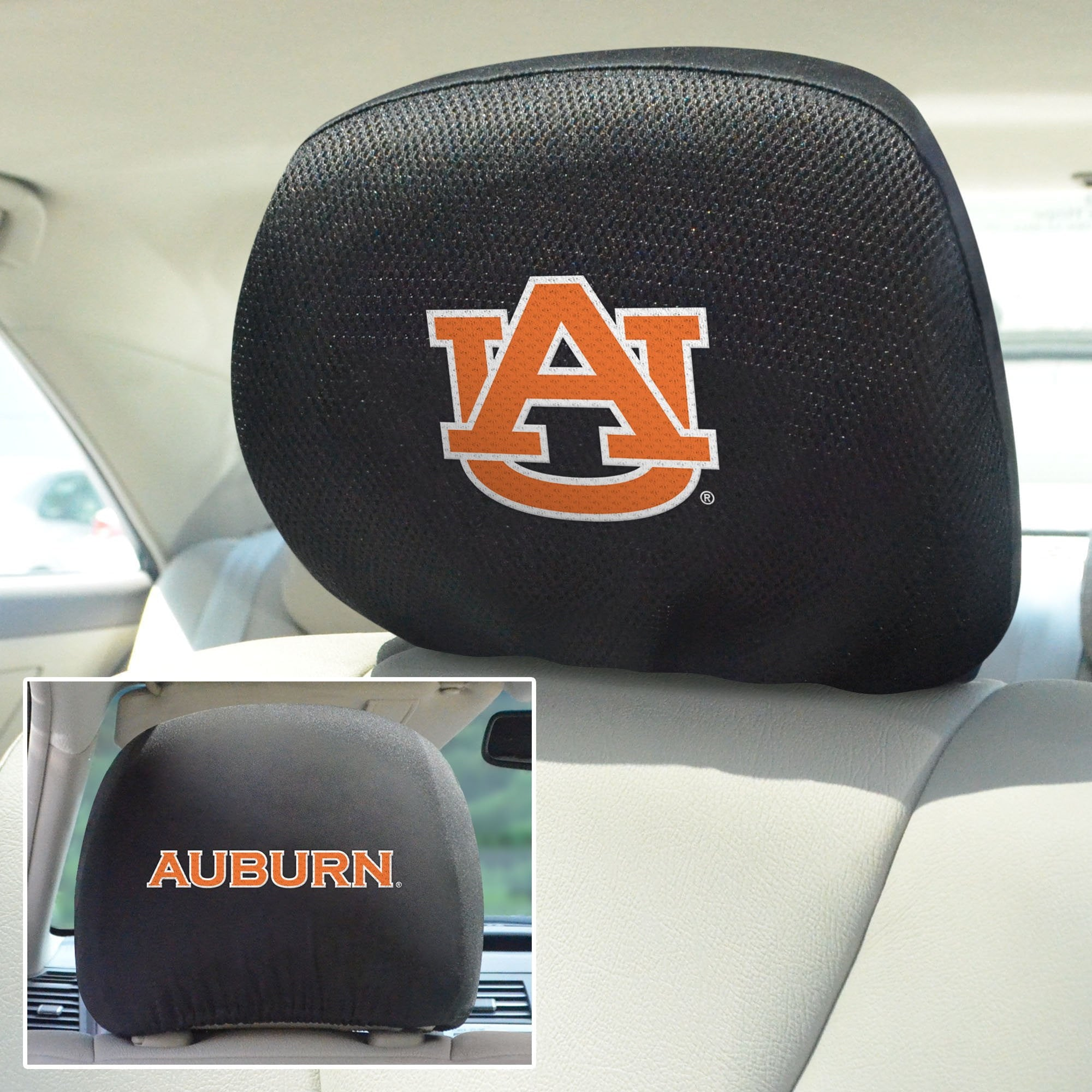 Auburn University Set of 2 Headrest Covers