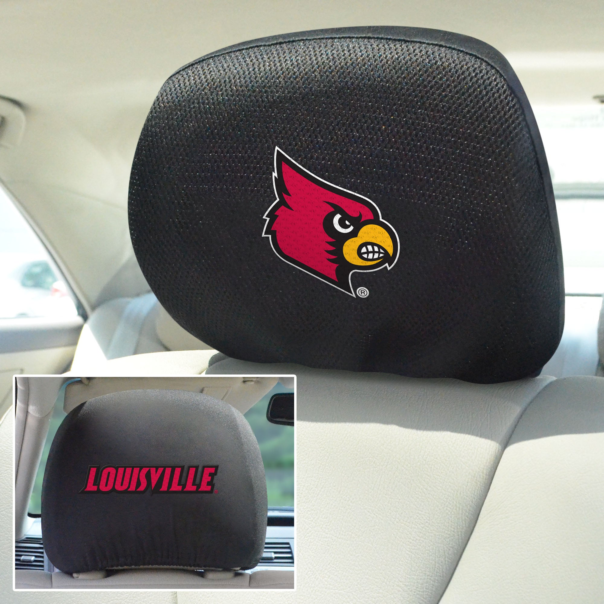 University of Louisville Set of 2 Headrest Covers