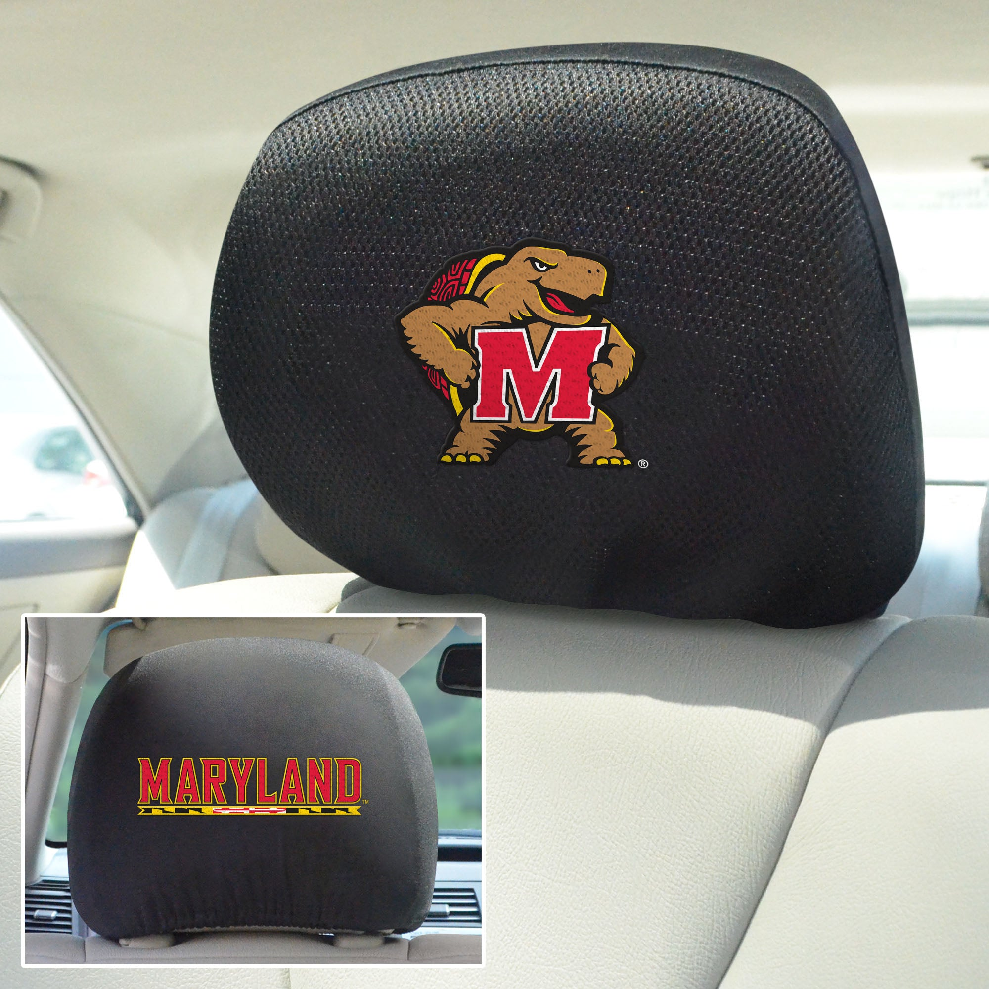University of Maryland Set of 2 Headrest Covers