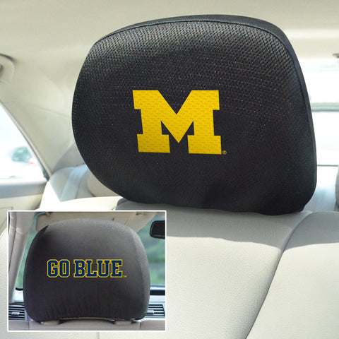 University of Michigan Set of 2 Headrest Covers