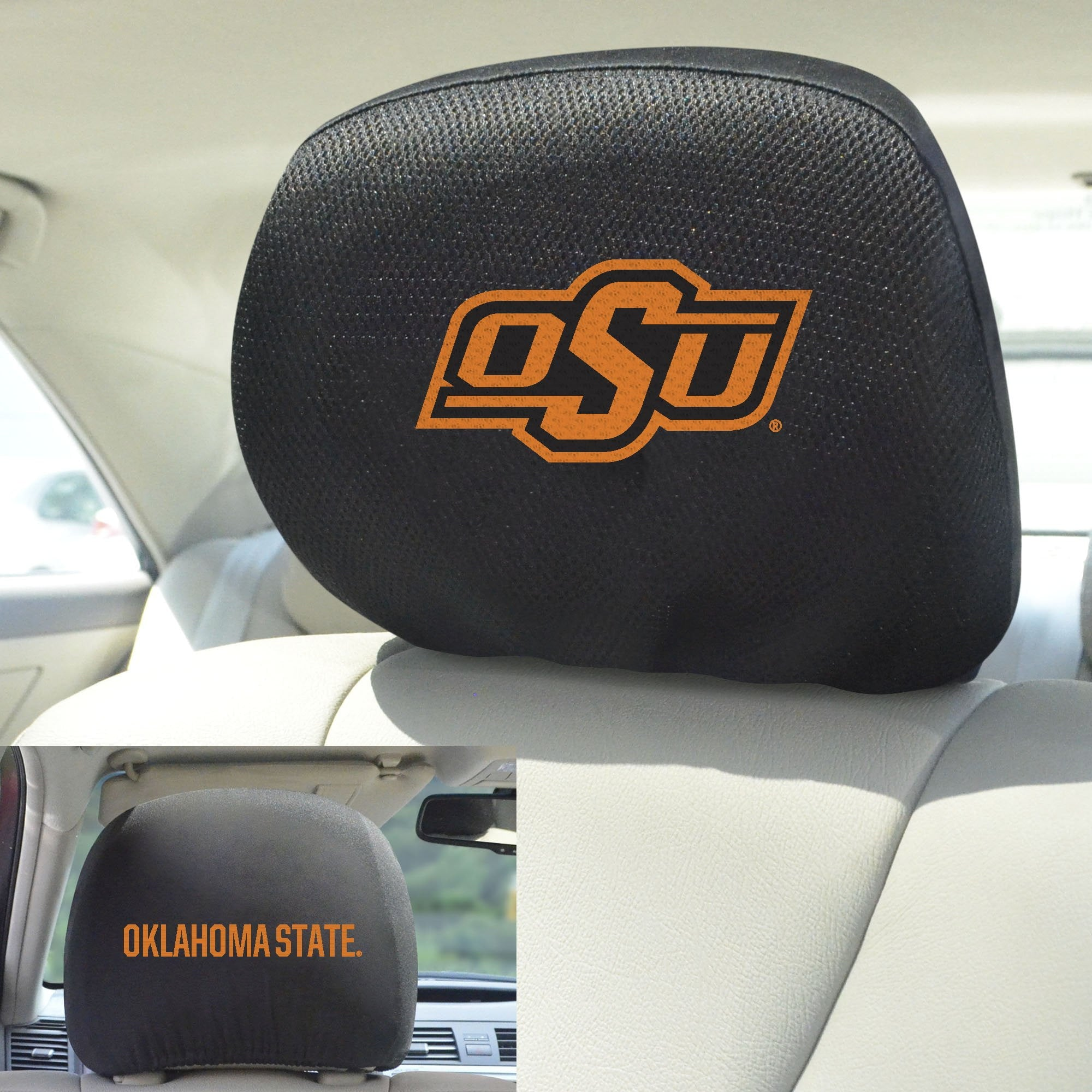 Oklahoma State Cowboys Set of 2 Headrest Covers