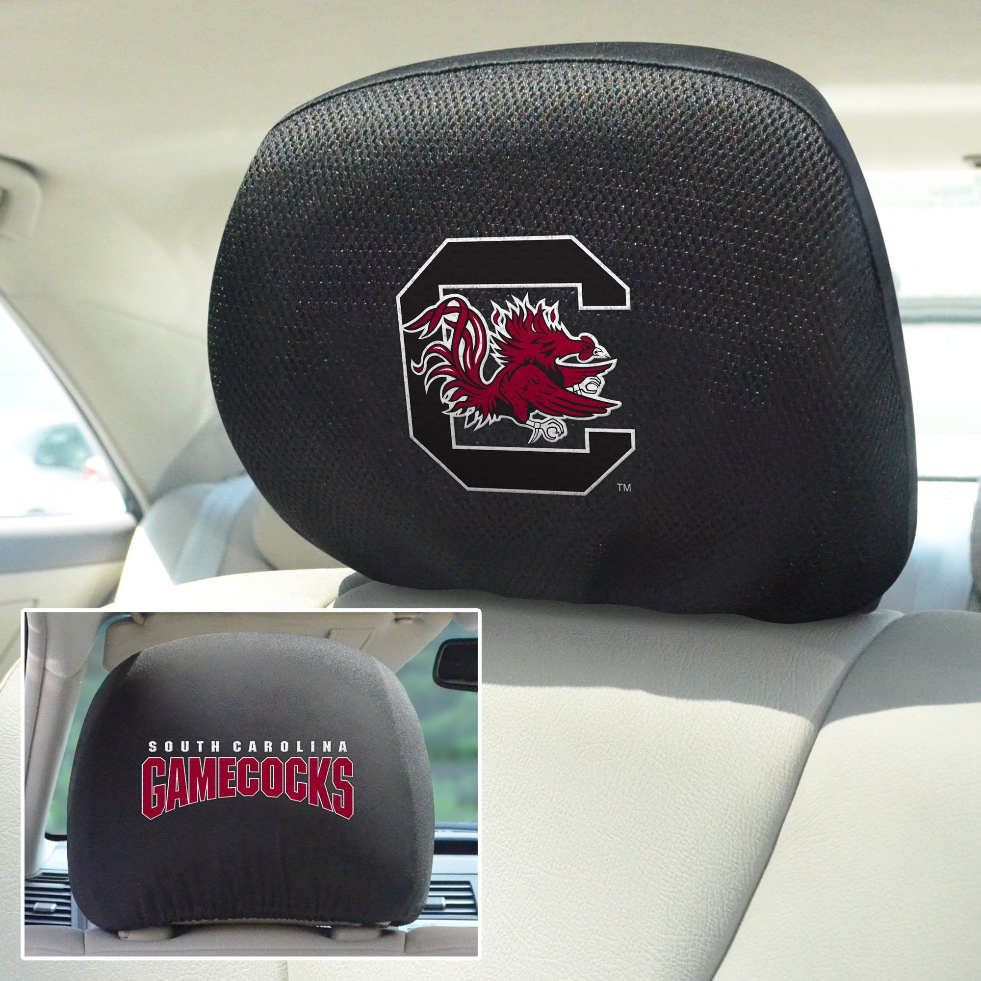 South Carolina Set of 2 Headrest Covers
