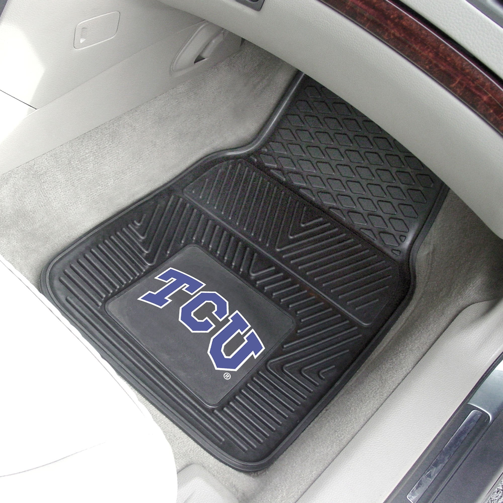 Texas Christian University 2-pc Front Vinyl Car Mats