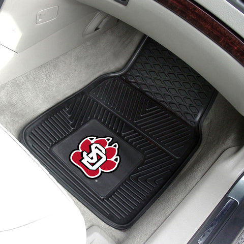 University of South Dakota 2-pc Front Vinyl Car Mats