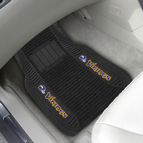 Minnesota Vikings 2-pc Front (Vinyl/Carpet) Car Mat Set 21