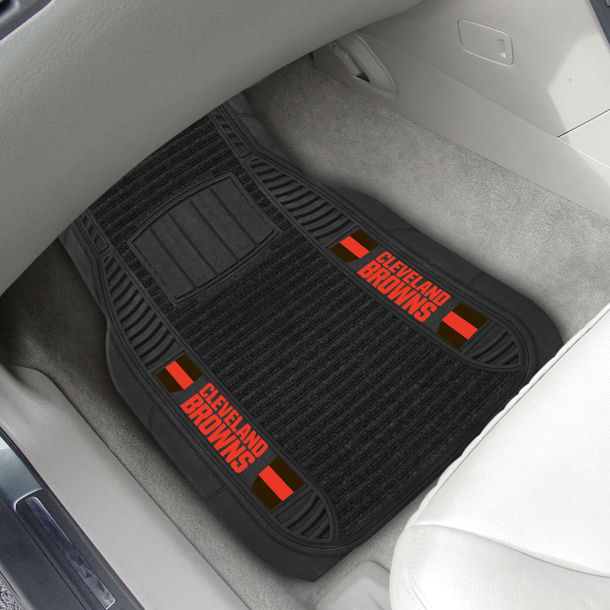 Cleveland Browns 2-pc Front (Vinyl/Carpet) Car Mat Set 21