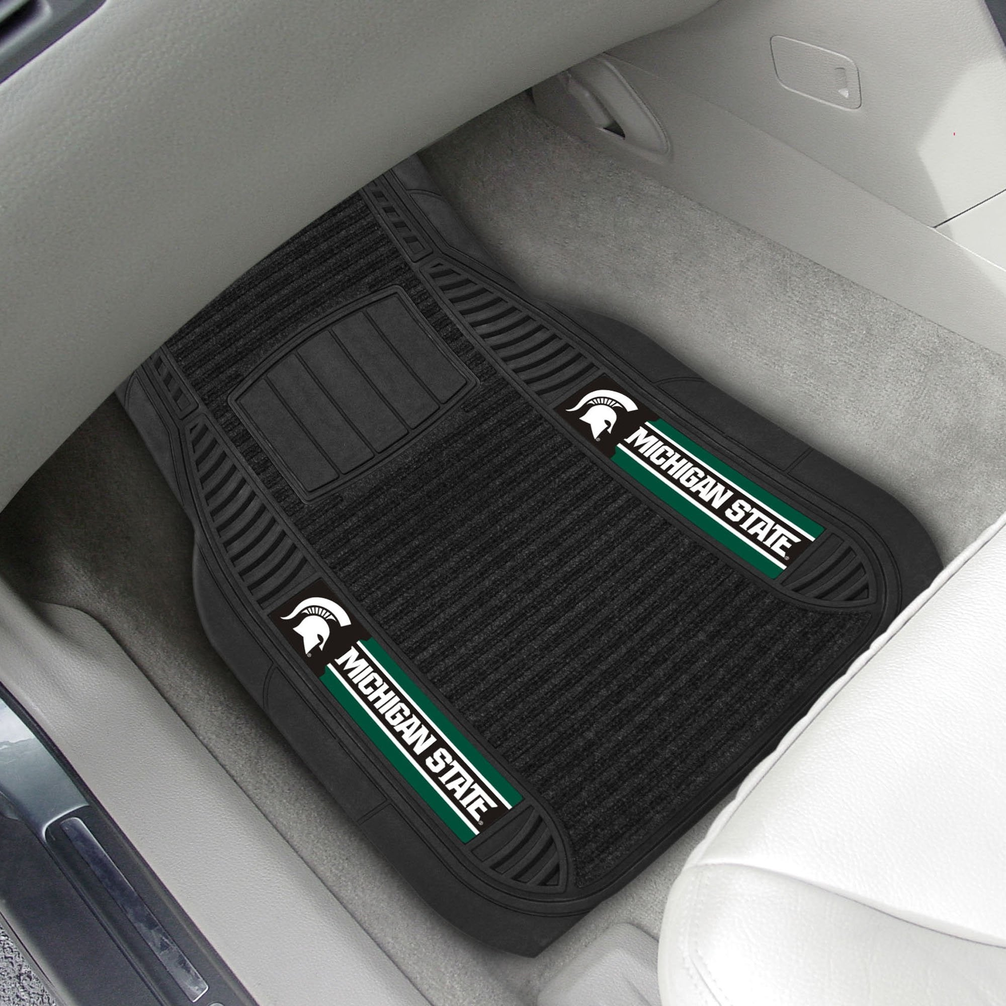 Michigan State Spartans 2-pc Front (Vinyl/Carpet) Car Mat Set 21