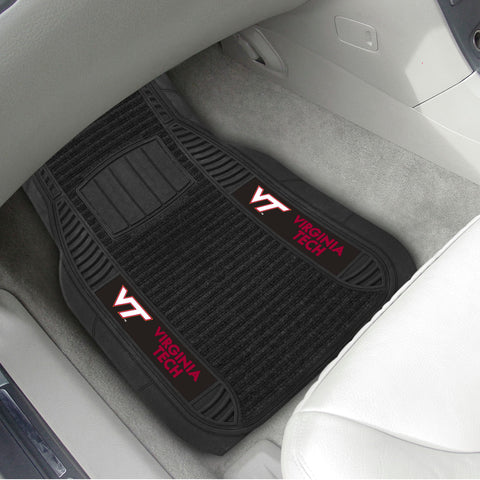 Virginia Tech 2-pc Front (Vinyl/Carpet) Car Mat Set 21