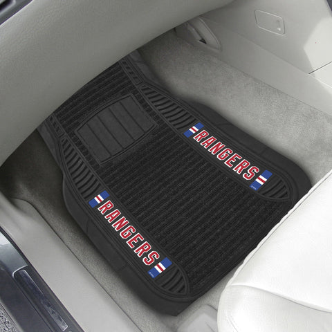 New York Rangers 2-pc Front (Vinyl/Carpet) Car Mat Set 21