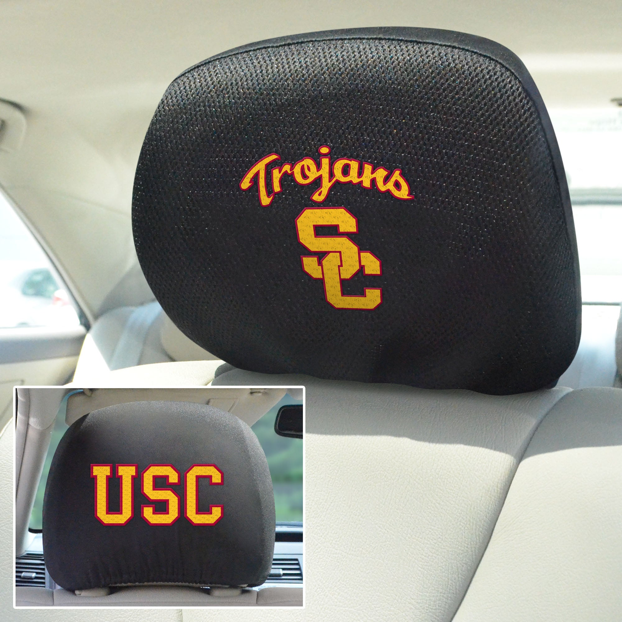 University of Southern California Set of 2 Headrest Covers