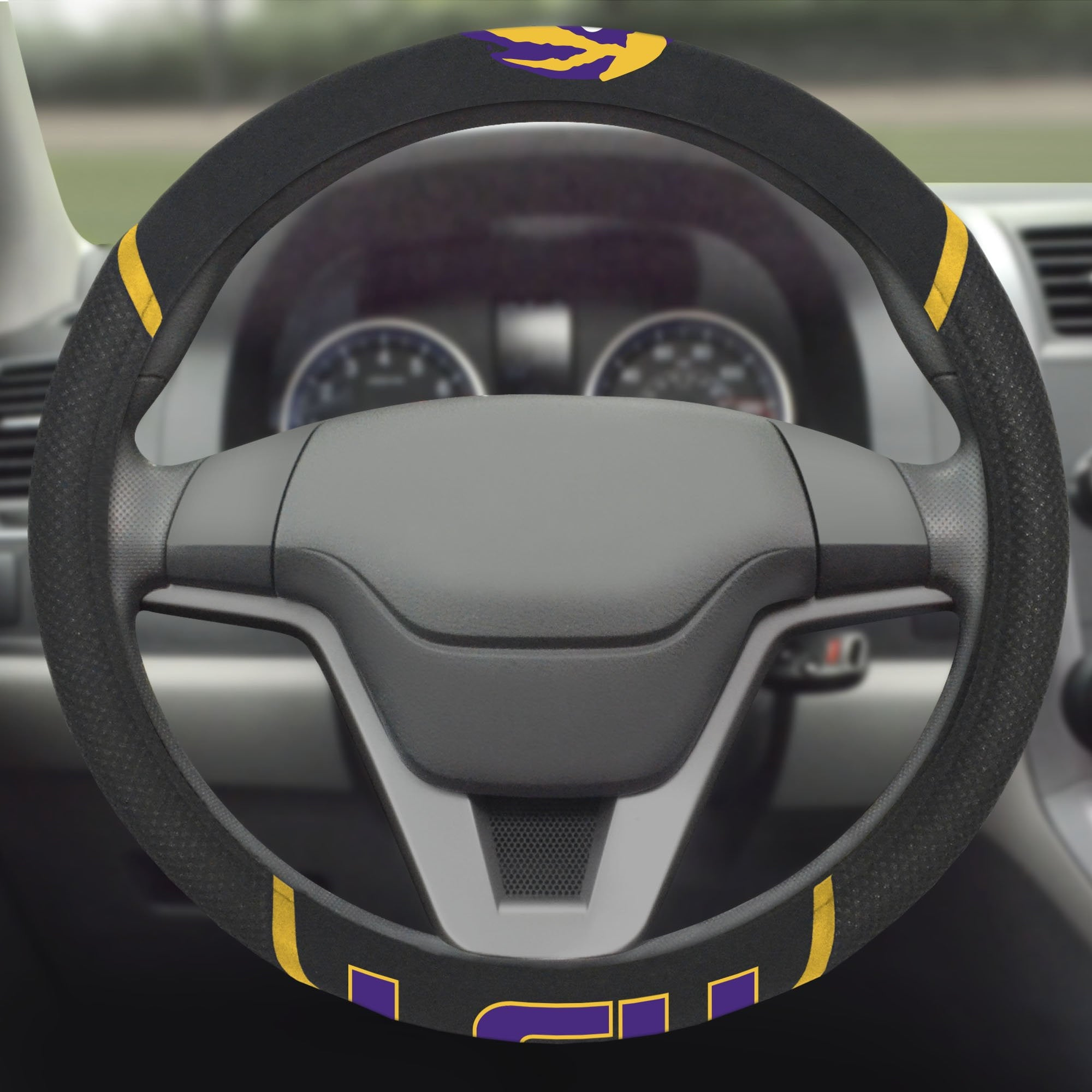 Louisiana State University Steering Wheel Cover 15