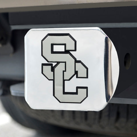 University of Southern California Chrome Hitch Cover - Chrome 3.4