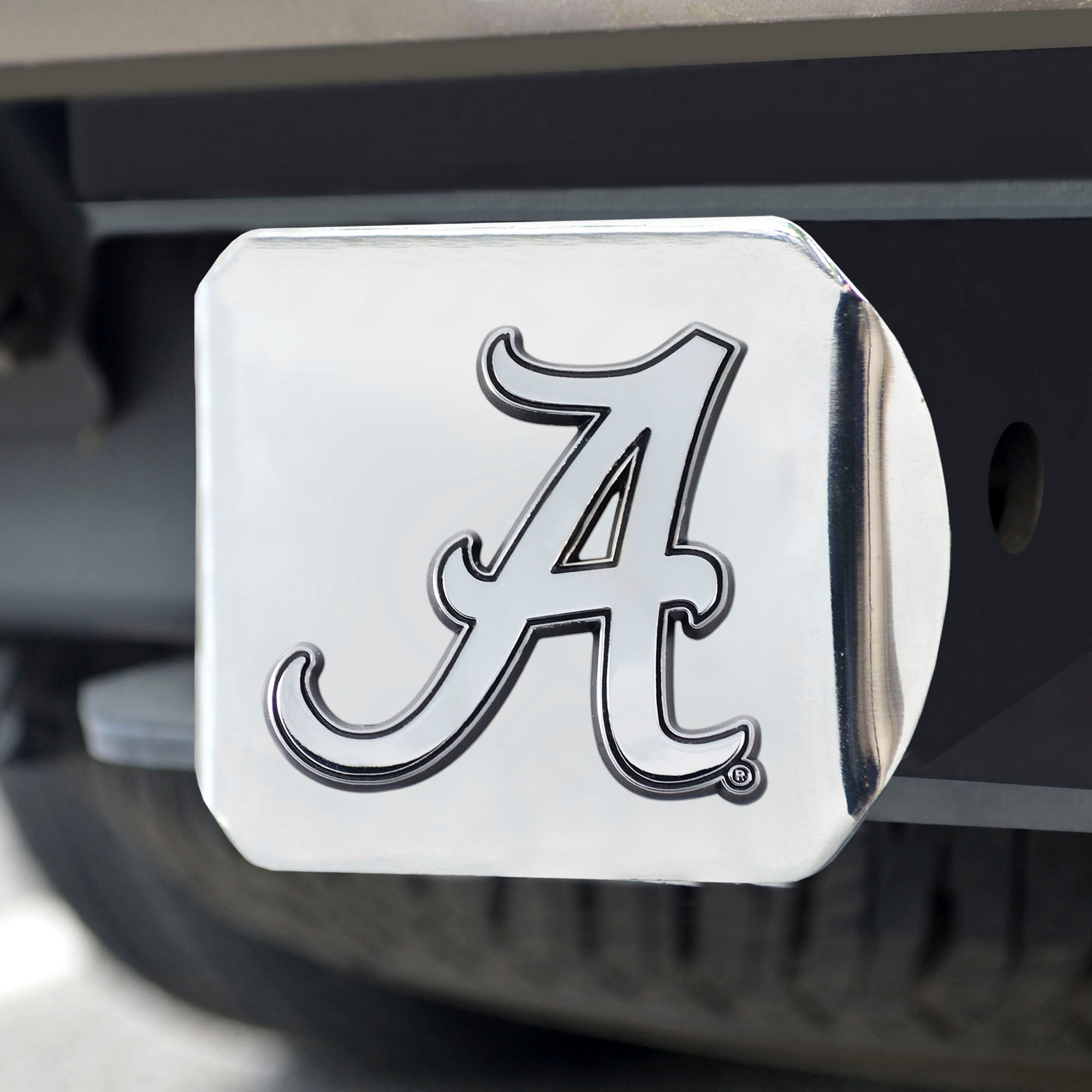 University of Alabama Chrome Hitch Cover- Chrome 3.4