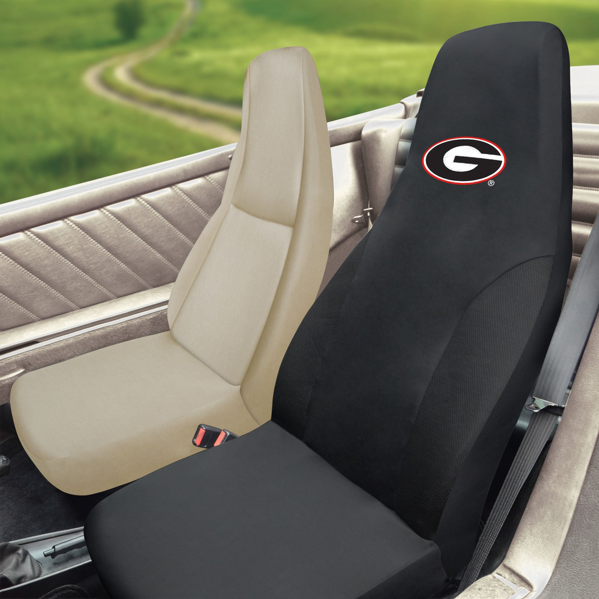 Georgia Bulldogs Set of 2 Car Seat Covers