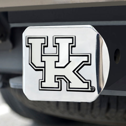 University of Kentucky Chrome Hitch Cover- Chrome 3.4
