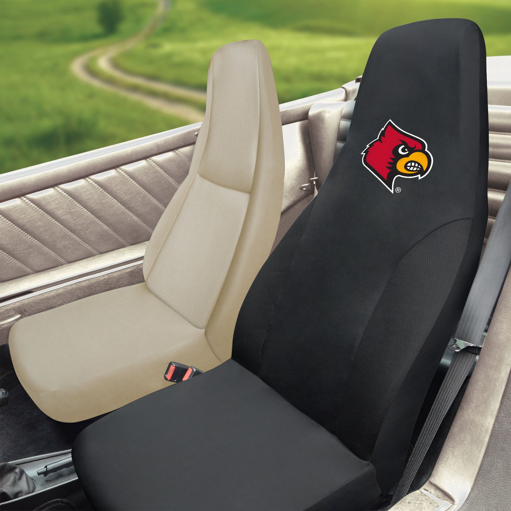 Louisville Cardinals Set of 2 Car Seat Covers