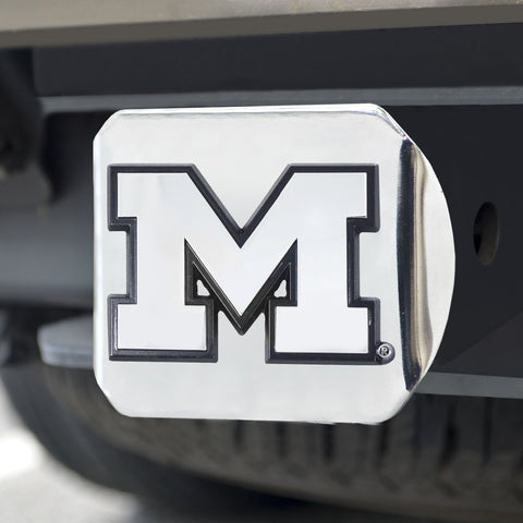 Michigan Wolverines Chrome Hitch Cover 3.4