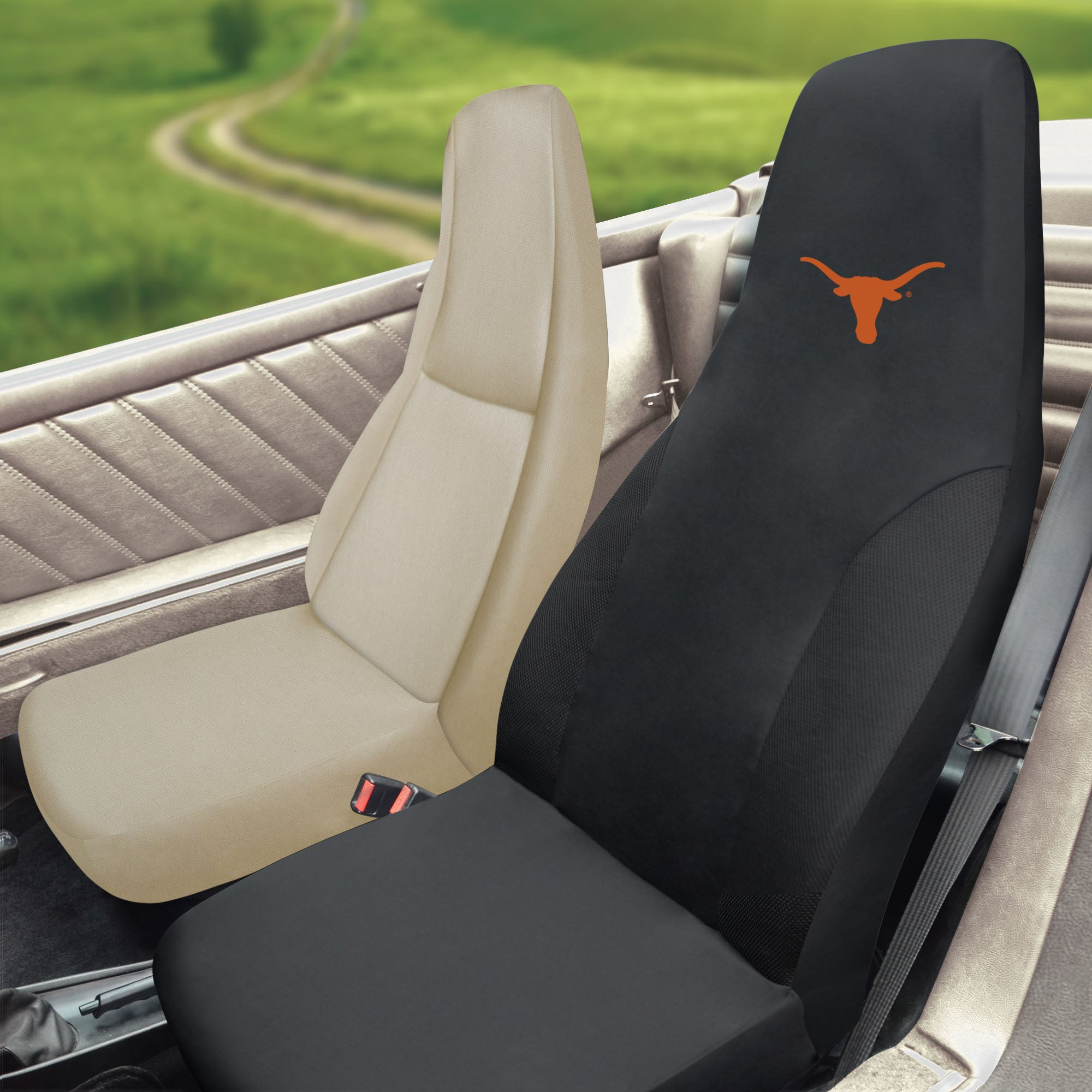 University of Texas Set of 2 Car Seat Covers
