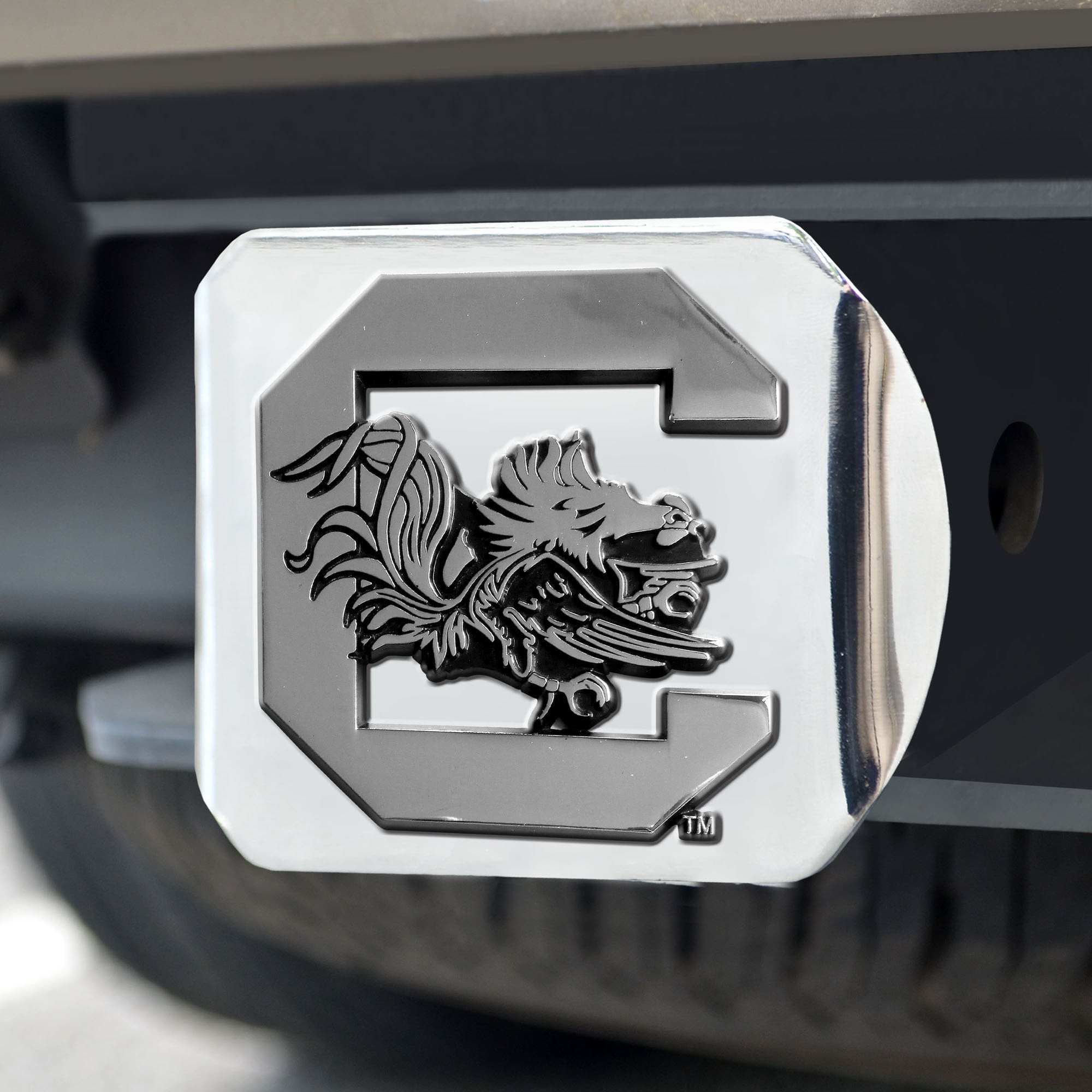 South Carolina Gamecocks Chrome Hitch Cover 3.4